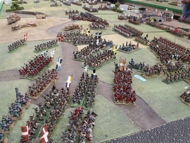 The French infantry take position.