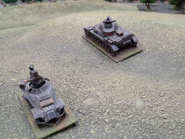 German armoured car and PZ IV