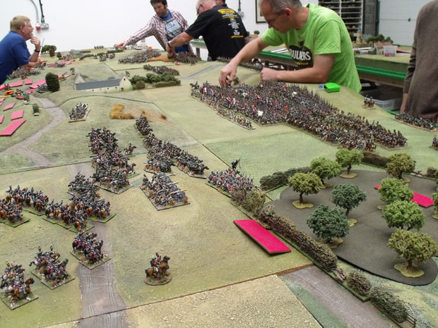The French advance.