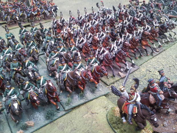 Russian Dragoons and Cuirassier