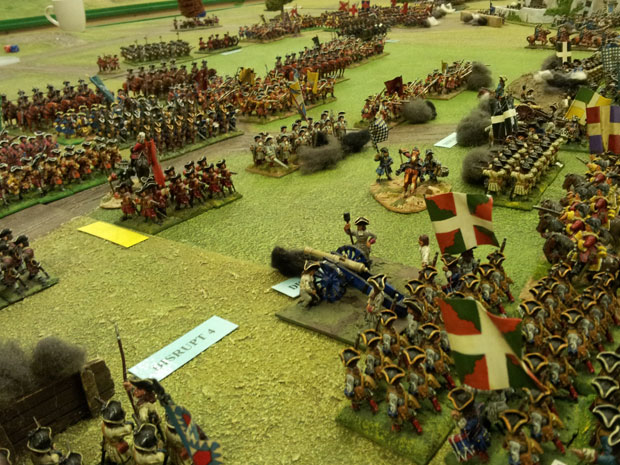 Troops under Lottum advance to the south of the Wood if Sars