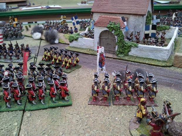 The Danish Guard begin to advance again on Blairon farm